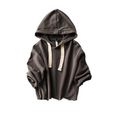 Children'S New Pure Color Hooded Hoodie