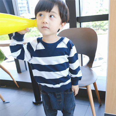 ChildrenS New Striped Long-Sleeved HoodieBoys Tops &amp; T-shirts<br>ChildrenS New Striped Long-Sleeved Hoodie<br><br>Collar: Round Neck<br>Embellishment: Vintage<br>Material: Cotton, Cotton Blends<br>Package Contents: 1xT-shirt<br>Pattern Type: Striped<br>Sleeve Length: Full<br>Style: Casual<br>Weight: 0.1000kg
