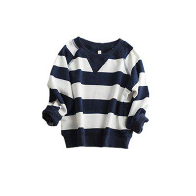Children'S New Striped Long-Sleeved Hoodie