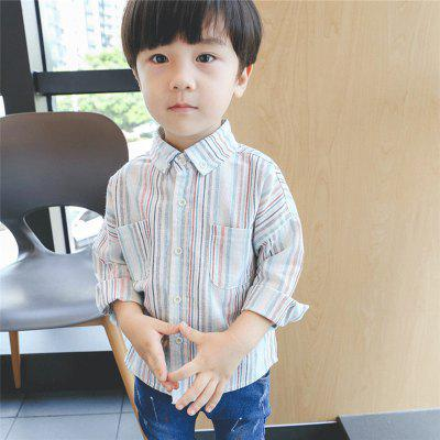 ChildrenS New Striped Long-Sleeve ShirtBoys Tops &amp; T-shirts<br>ChildrenS New Striped Long-Sleeve Shirt<br><br>Collar: Turn-down Collar<br>Embellishment: Pockets<br>Material: Cotton, Cotton Blends<br>Package Contents: 1x Shirt<br>Pattern Type: Striped<br>Sleeve Length: Full<br>Style: Casual<br>Weight: 0.2000kg