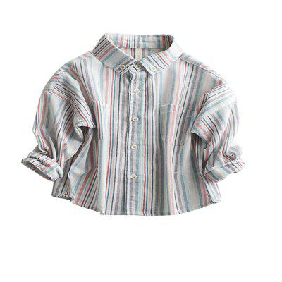 Children'S New Striped Long-Sleeve Shirt