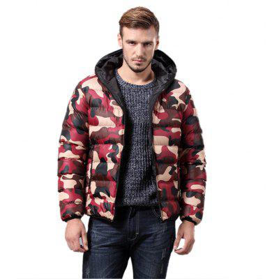 Daifansen Men's Fashion Camouflage Padded Coat