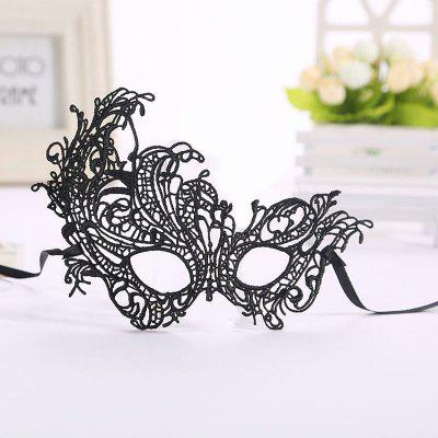 Masquerade Lace Catwoman Halloween Black Cutout Phoenix Hollow Veil Prom Party Mask Accessories Lady Sexy Dance Mas