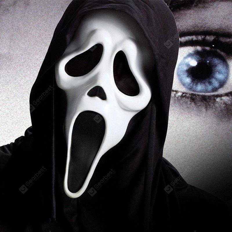 Funny Full Face PVC Realistic Scary Horror Mask Halloween Death Ghost Witch Grimace Scream Masks Party Mask Cosplay Cost