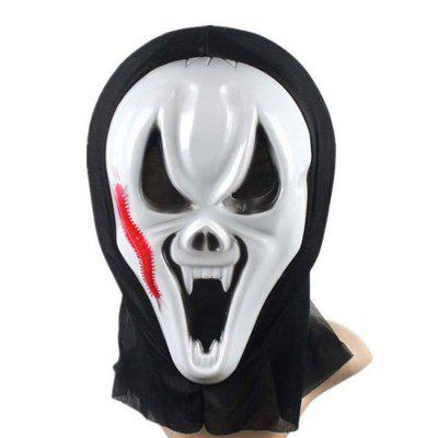 Funny Full Face PVC Realistic Scary Horror Mask Halloween Death Ghost Witch Grimace Scream Masks Party Mask Cosplay