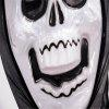 Grimace Mask Halloween Funny Full Face PVC Realistic Scary - WHITE