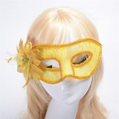 Buy Fashion Sexy Mask Venetian Ball Masquerade Masks Festive Party Supplies YELLOW for $2.38 in GearBest store