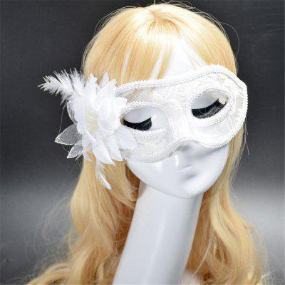 Buy Fashion Sexy Mask Venetian Ball Masquerade Masks Festive Party Supplies WHITE for $2.38 in GearBest store