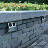 1PCS Solar Wall Lamp 2LED Wall Decorative Fence Lamp Courtyard - WHITE LIGHT
