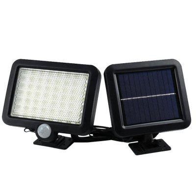 1PC Outdoor Solar Energy Upgrade 56LED Human Body Induction Wall Courtyard Lamp