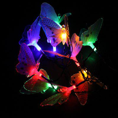 1PCS 10LED Simulation Fiber-Optic Butterfly Solar Decorative Lamp Series Animal Modeling Lawn Christmas Lights