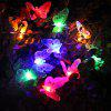 1PCS 10LED Simulation Fiber-Optic Butterfly Solar Decorative Lamp Series Animal Modeling Lawn Christmas Lights - RGB