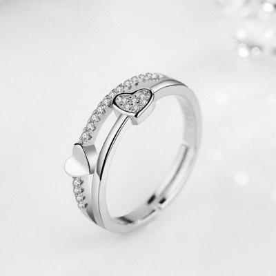 Heart-Shaped Diamond Live Mouth Ring FemaleRings<br>Heart-Shaped Diamond Live Mouth Ring Female<br><br>Gender: For Lovers<br>Metal Type: Alloy<br>Package Content: 1x ring<br>Package size (L x W x H): 5.00 x 5.00 x 5.00 cm / 1.97 x 1.97 x 1.97 inches<br>Package weight: 0.0028 kg<br>Product size (L x W x H): 3.00 x 3.00 x 1.00 cm / 1.18 x 1.18 x 0.39 inches<br>Product weight: 0.0025 kg<br>Style: Romantic