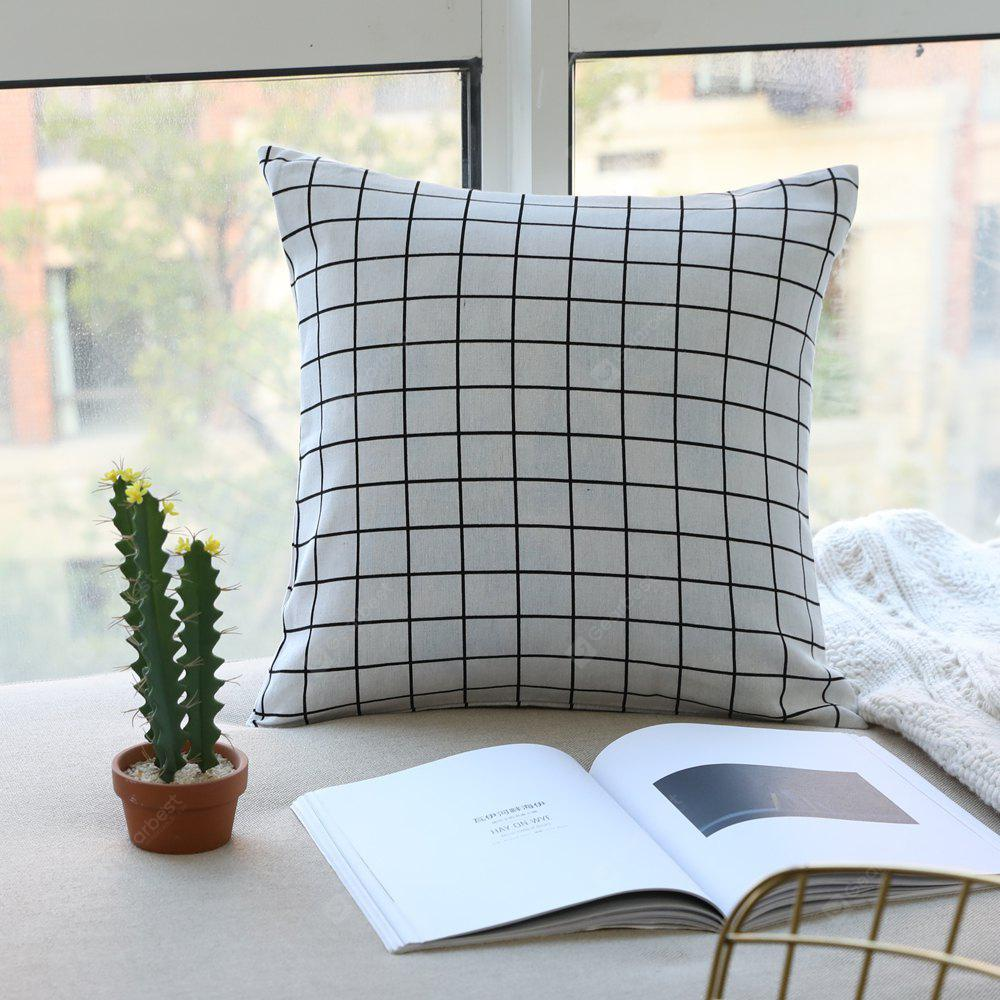 Pillow Cover Nordic Breif Style Striped Plaids Cushion Cover Pillowcase