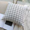 Pillow Cover Nordic Breif Style Striped Plaids Cushion Cover Pillowcase - WHITE
