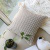 Home Decorative Pillowcase Brown Check Pattern Supple Sofa Cushion Cover - BROWN