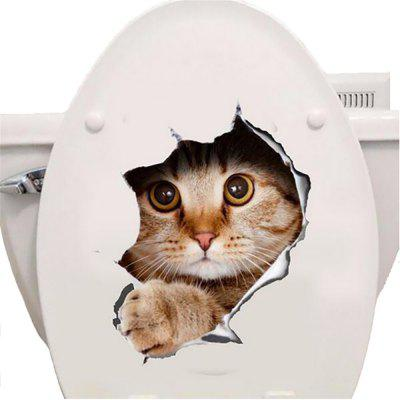 waterproof Cat 3D Wall Sticker Hole View Bathroom Toilet Living Room Home Decor Decal Poster Background Wall StickersWall Stickers<br>waterproof Cat 3D Wall Sticker Hole View Bathroom Toilet Living Room Home Decor Decal Poster Background Wall Stickers<br><br>Function: Decorative Wall Sticker, Toilet Sticker, 3D Effect<br>Material: PS<br>Package Contents: 1 x Wall Stickers<br>Package size (L x W x H): 6.00 x 6.00 x 3.00 cm / 2.36 x 2.36 x 1.18 inches<br>Package weight: 0.0030 kg<br>Quantity: 1<br>Subjects: Animal<br>Suitable Space: Living Room,Bathroom<br>Type: 3D Wall Sticker