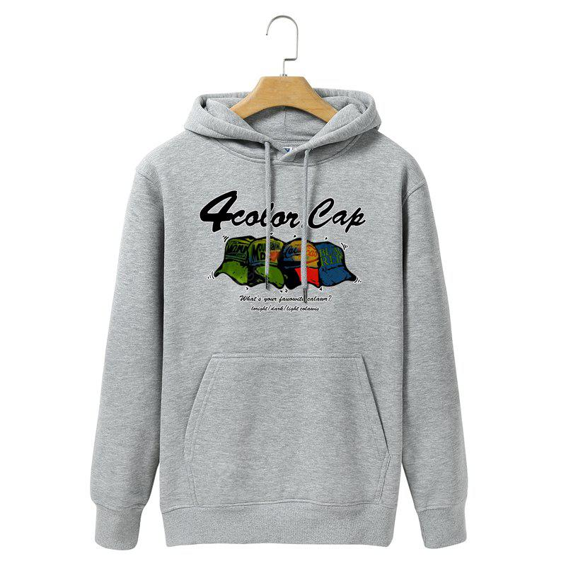 Men Thickened Cotton Color Hoodie