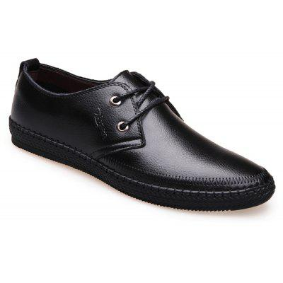 Leather Flat Bottomed Lounge Shoes