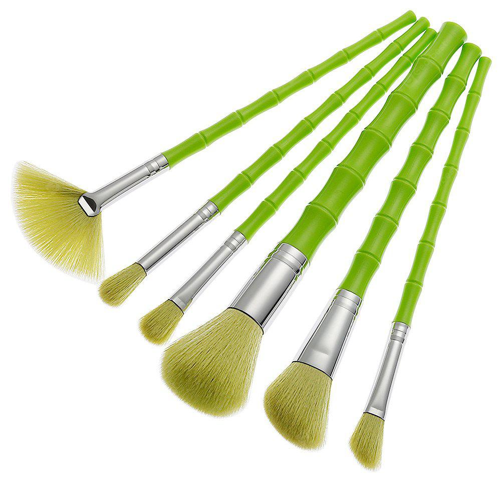 Green Bamboo Shape Brush 6PCS