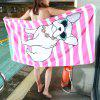 Cotton Printing Beach Towel - PINK