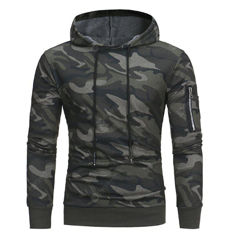 New Fashion Camouflage Hooded Men's Casual Hoodies