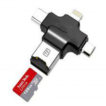 Micro SD Card Reader with Type c/ Micro USB Adapter TF Memory Card Camera Reader for Apple iPhone iPad IOS