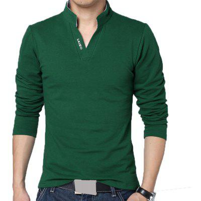 Men Fashion V Neck Long Sleeve T Shirt