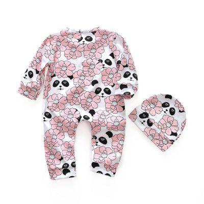 Baby Clothes Spring Baby Girl Pure Cotton Long Sleeve Printed Flowers Jumpsuit +Hat.baby rompers<br>Baby Clothes Spring Baby Girl Pure Cotton Long Sleeve Printed Flowers Jumpsuit +Hat.<br><br>Closure Type: Covered Button<br>Collar: Round Neck<br>Gender: Girl<br>Material: Cotton<br>Package Contents: 1 x Jumpsuit<br>Season: Spring<br>Sleeve Length: Full<br>Thickness: Thin<br>Weight: 0.1500kg