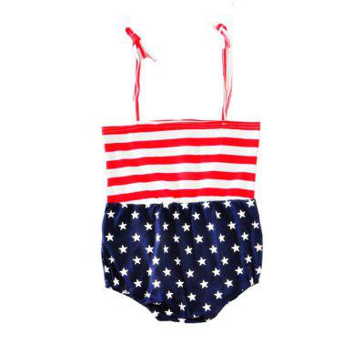 SOSOCOER Baby Girls Clothes Set Striped Star Printing Sling Romper Hair Band Two Piecebaby clothing sets<br>SOSOCOER Baby Girls Clothes Set Striped Star Printing Sling Romper Hair Band Two Piece<br><br>Brand: SOSOCOER<br>Closure Type: Pullover<br>Collar: Square Neck<br>Color: Red,Blue<br>Gender: Girl<br>Material: Cotton<br>Package Contents: 1 x Hair Band, 1 x Romper<br>Pattern Style: Striped<br>Season: Summer<br>Sleeve Length: Sleeveless<br>Sleeve Style: Tank<br>Thickness: General<br>Weight: 0.1400kg