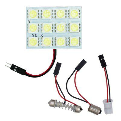 4PCS 12SMD 5050 LED Festoon Dome Light Panel Interior Lamp Bulb T10 BA9S DC 12V