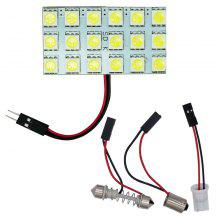 4PCS White 18SMD 5050 Panel Interior Dome Map Light+Festoon T10 BA9S Adapter