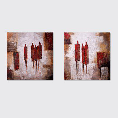 QiaoJiaHuaYuan No Frame Canvas Living Room Sofa Background Decoration Hanging Picture Simple and Abstract Double - Linked