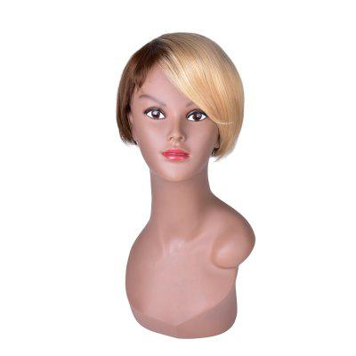 Hairyougo Short Straight Wig Black Blonde Ombre Rose Net Synthetic Women Hair
