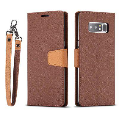 MUXMA Cover Case for Samsung Galaxy Note 8 Retro Twill Leather