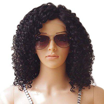 Brazilian Human Hair Front Lace Wig Kinky Curly