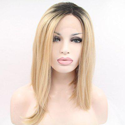Remy Brazilian Human Hair Short Bob  for Black Women Ombre Blonde Lace Front  No Split Ends