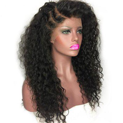 Non-remy Curly Wigs  Nature Color Peruvian Lace Front Human Hair  Frontal Lace