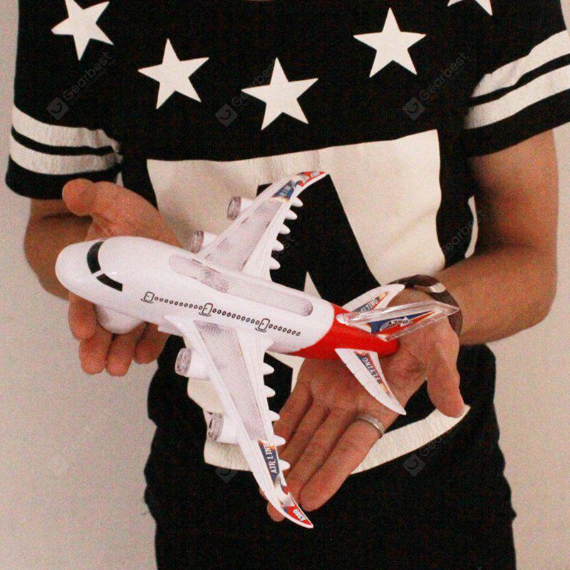 Children Intelligence Assembly Air Passenger Airliner Flashing Sound Music  Plastic Model Aircraft Toys