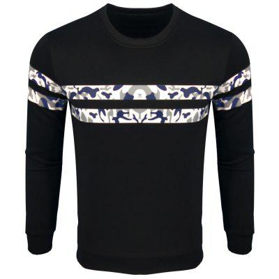 Men's Spring and Autumn Fashion Leisure Printing Long-Sleeved  Sweatshirt