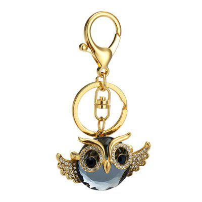 Diamondo Owl Shape Keychains Women Fashion Rhinestone Bag Pendant Car Key Accessories