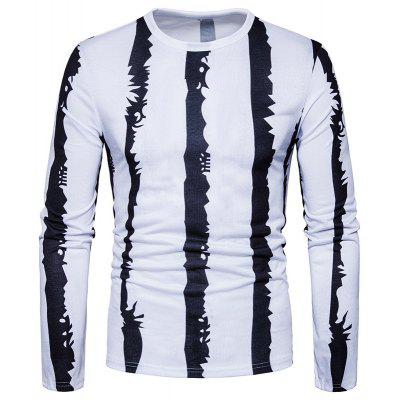 Splicing Design Casual Fashion T-Shirt