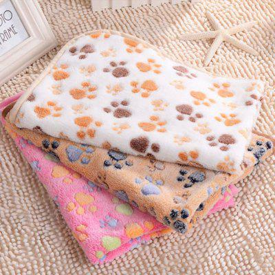 Pet Warm Paw Print Pattern Cucciolo di cane Cat Coniglio Fleece Soft Blanket Mat Gift