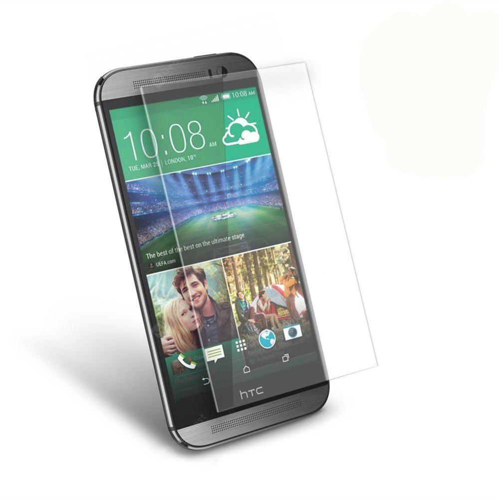 2PCS Screen Protector for HTC M8 HD Full Coverage High Clear Premium Tempered Glass