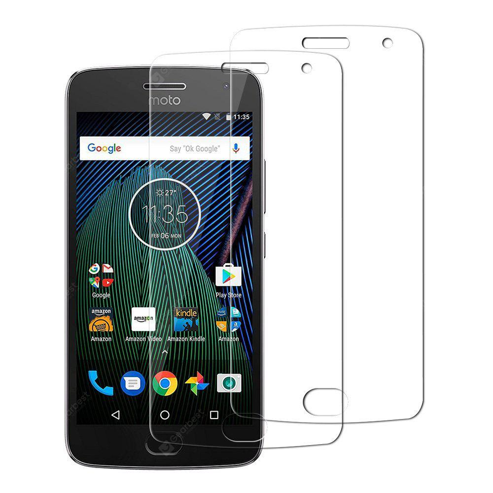 2PCS Screen Protector for Moto G5 Plus HD Full Coverage High Clear Premium Tempered Glass