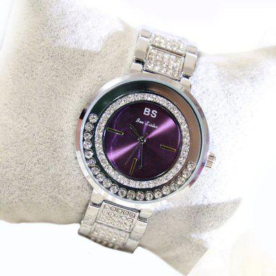 Fashion Colorful Dial Moving Diamond Quartz Women Casual Rhinestone Wristwatches