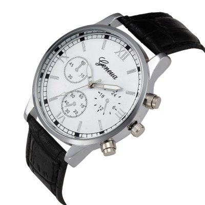 Analog Design Quartz Wrist Wrist Men WatchMens Watches<br>Analog Design Quartz Wrist Wrist Men Watch<br><br>Available Color: Black,White,Blue,Brown<br>Band material: Leather<br>Band size: 2.0<br>Case material: Alloy<br>Clasp type: Pin buckle<br>Dial size: 4.0<br>Display type: Analog<br>Movement type: Quartz watch<br>Package Contents: 1 x Watch, 1 x Box<br>Package size (L x W x H): 8.50 x 8.50 x 6.00 cm / 3.35 x 3.35 x 2.36 inches<br>Package weight: 0.0800 kg<br>Product size (L x W x H): 23.00 x 4.00 x 0.80 cm / 9.06 x 1.57 x 0.31 inches<br>Product weight: 0.0500 kg<br>Shape of the dial: Round<br>Special features: Decorative sub-dial<br>Watch mirror: Acrylic<br>Watch style: Casual, Fashion, Outdoor Sports<br>Watches categories: Men<br>Water resistance: Life water resistant<br>Wearable length: 23