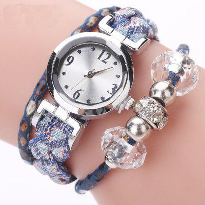 Women Bracelet  Knitting Design Band Vintage Style All Match Watch Accessory