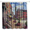 Oil Painting City 2 Polyester Shower Curtain Bathroom  High Definition 3D Printing Water-Proof - COLORMIX