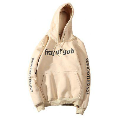 Fall Fashion Printing Letters Long Sleeved Hoodie